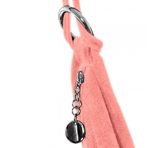 de Ante Mujer de en Bolso para Varios Bolso Mano Hombro Piel Coral Colores Italiano TL617 de CASPAR de vA0gq6YxE