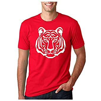 Tiger Face Printed Unisex Red Tshirt