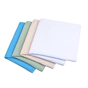 Sinland Microfiber Waffle Weave Kitchen Towels Dish Drying Towels Dish Cloths Assorted Colors 16Inchx24Inch 4Pack
