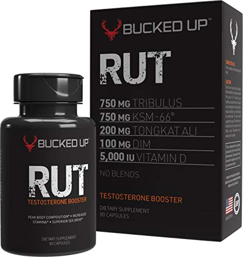 RUT - Testosterone Booster - Best All-Natural Test Formula for Men - Energy, Endurance, Strength, and Stamina Booster - Fast Muscle Growth - Male Supplements (90 Capsules/Pills) (Best Deer Antler Spray On The Market)