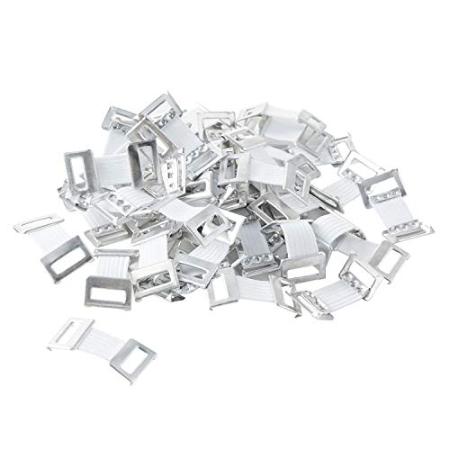 (ORIENTOOLS Elastic Bandage Clips 50-Pack Stretch Metal Clasps for Various Types Bandages, Replaceable Wrap Fastener Clips, Latex-Free, White)