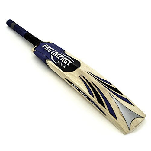 Pro Impact Classic Kashmir Willow Leather Ball Cricket Bat, Full Adult Size by Pro Impact