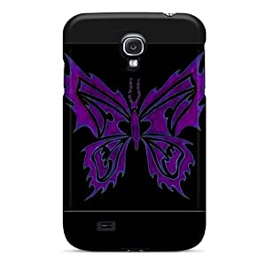 Janehouse Premium Protective Hard Case For Galaxy S4- Nice Design - Tribal Butterfly