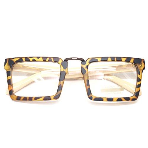 Rectangular Plastic Frame Sunglasses - 4