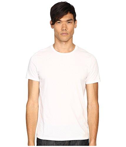 - Vince Men's Favorite Pima Cotton Short-Sleeve Crew-Neck T-Shirt, Optic White, Medium