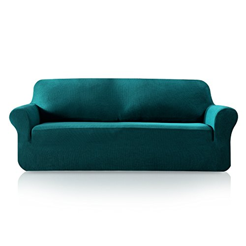 Subrtex 1-Piece Plaid Jacquard Stretch Couch Slipcovers, Sof