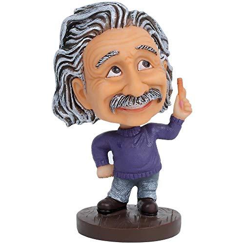 Cute Albert Einstein Bobblehead Action Figure for Car Dashboard Einstein Statue Home Desk Decoration Toy