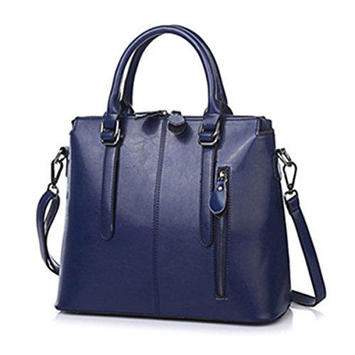 SANSJI en Business concepteur à sac cuir sac d'affaires sacs fourre à Mode véritable tout portable bandoulière d'ordinateur Messenger Blanc main sac r586qrPw