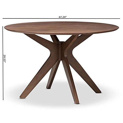 Hawthorne Collections Round Dining Table in Walnut Brown by Hawthorne Collections (Image #7)