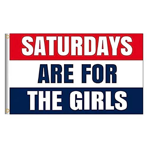 Moligoo Saturdays for The Girls Flag 3x5 ft Polyester Flag Banner Sign - Tapestry Flag