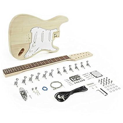 Kit de Bricolaje de Guitarra Eléctrica LA de 12 Cuerdas