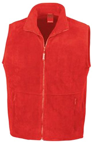 Rojo chaleco Fleece Active Outdoor Result hombre rosso SxXg8fw