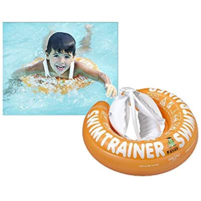 Fred's Swim Academy Child SwimTrainer Classic with Safety Straps - Orange (2 - 6 years): Toys & Games