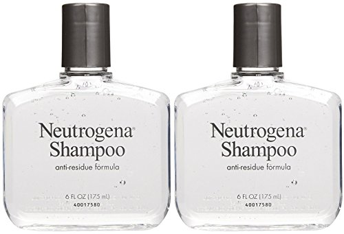 Neutrogena Anti-Residue Shampoo, Gentle Non-Irritating Clarifying Shampoo to Remove Hair Build-Up & Residue, 6 fl. oz (Pack of 2)