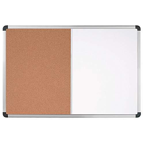 Office Depot Brand Magnetic Dry-Erase Combo Board, Cork/Steel, 24