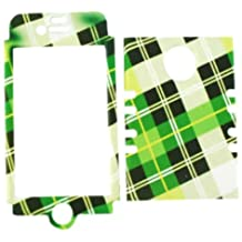 Cell Armor IPHONE4G-RSNAP-TE294 Rocker Snap-On Case for iPhone 4/4S - Retail Packaging - Green Plaid