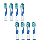 Cheap 8pcs Electric Toothbrush Heads Replacement Compatible Fit Oral B VITALITY SONIC