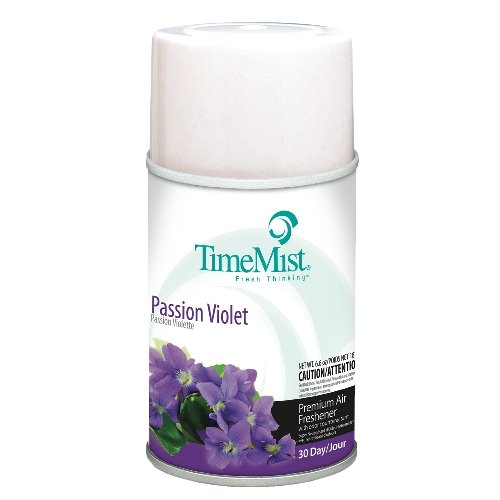 Timemist TMS 2962 Premium Metered Air Fresh 5.3 Oz Aerosol Pssn Violet - Case of 12 by Timemist