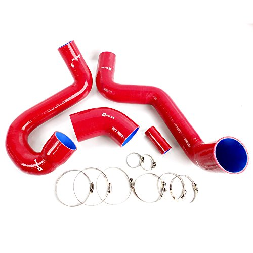 Turbo Intercooler Boost Silicone Hose Kit Fit For Saab 95 1998-2008 Red