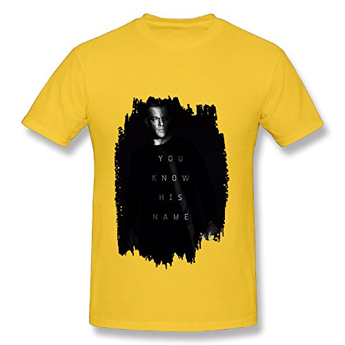 Bourne 5 Jason Bourne Action Spy Thriller Film Gold T Shirt For Men