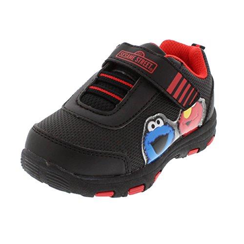 Sesame Street Elmo Cookie Monster Little Boys Athletic Sneakers Shoes (Sesame Street Hook)