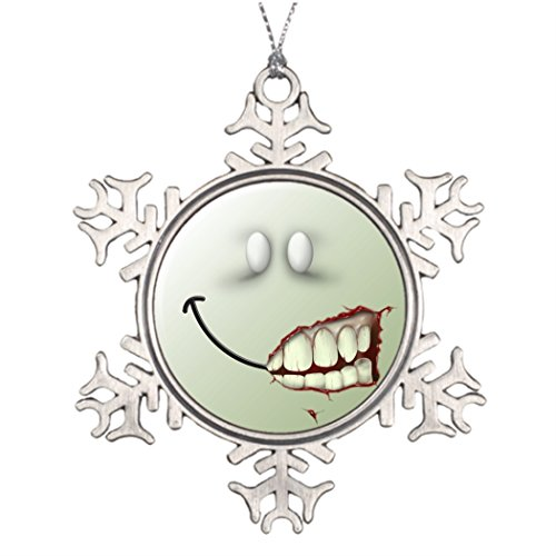 Humories Face Xmas Trees Decorated Gruesome Family Snowflake Ornaments (Gruesome Halloween Ideas)