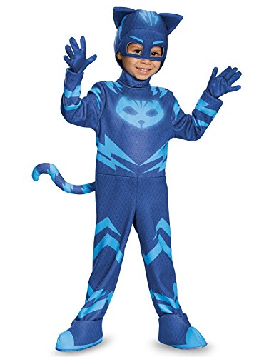 Big Show Costumes (Catboy Deluxe Toddler PJ Masks Costume, Large/4-6)