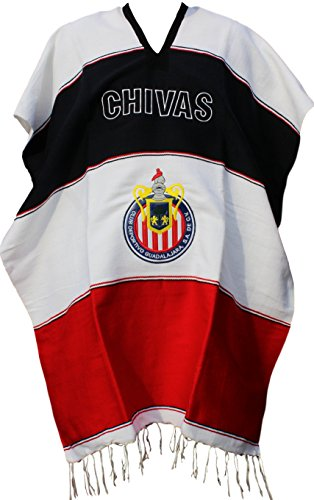 Trade MX Chivas Mexican Soccer Team Poncho Adult Size (Yellow Seal)