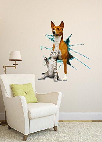 Creative 3D (Perros Y Gatos) Pared Wallpaper Dormitorio Living ...