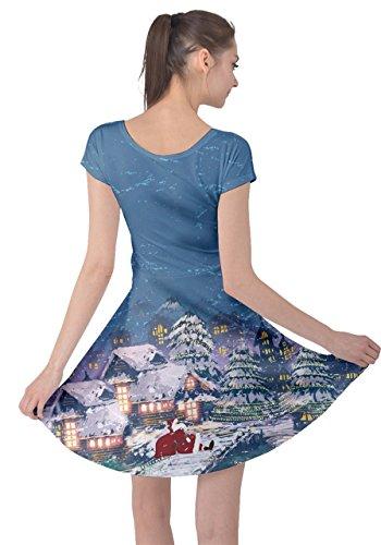 Vintage XS CowCow Xmas 5XL Santa Christmas Womens Night Snowman Deer Short Winter Dress Sleeve Tree Christmas pUg0pr