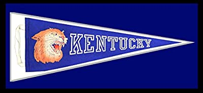University of Kentucky Vintage 1950s Pennant. Framed