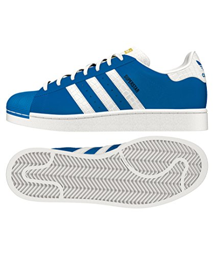 adidas Originals Herren Superstar Foundation Casual Sneaker Blau