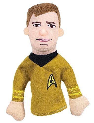 Magnetische Star Trek Fingerpuppe Captain Kirk, Witzige Kleine Handpuppe der Raumschiff-Enterprise-Figur, Größe: ca. 12 cm, Stoff: 100 % Polyeste, Anhänger mit Lebenslauf und Zitat von Captain Kirk Größe: ca. 12 cm mags