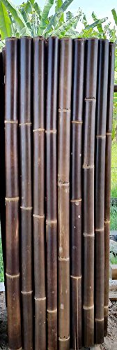 Master Garden Products Extra Large Black Speckled Bamboo Pole Fence, 2u0027L X 6