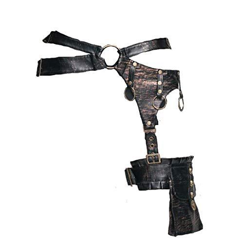 XINXIN Steampunk Leder Tropfen Bein Taillengürtel Tasche Mit Getrieben Dekor Gothic Motorrad-Thigh Tasche Für Frauen