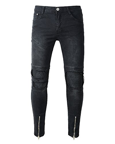 Jeans Uomo Skinny Fit Aspicture Strappato Slim Casual Luce Conici Pantaloni ww6tfx4qS