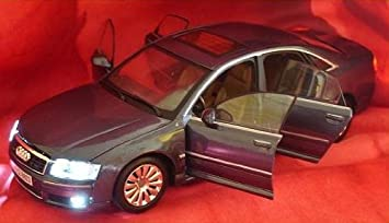 Audi A8 A 8 1/18 Tuning Grau Beleuchtung Led Licht 1/18 Modellauto