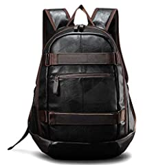 Material: PU       Colour: Black       Suitable for school, business, shopping, weekends, travel, fitness, hiking, cycling, camping, etc.       A slight color difference may occur due to display differences       Manual measurement wil...