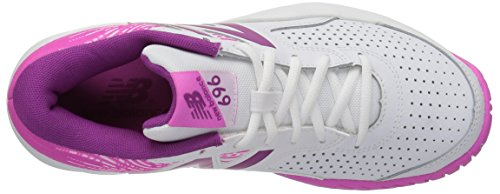 New Balance Womens Wc696v3 Scarpa Da Tennis Hard Court Bianca / Fusione