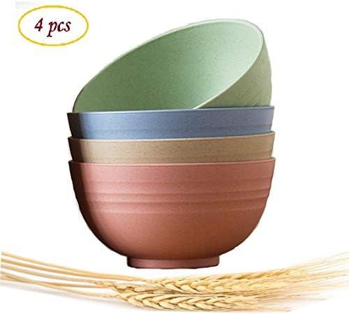 Amazon.com: Cuenco de paja de trigo ligero e irrompible, no ...