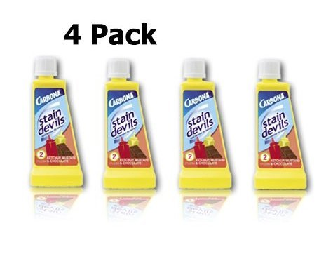(Carbona Stain Devil #2 - 4 Pack for Ketchup, Mustard and Chocolate)