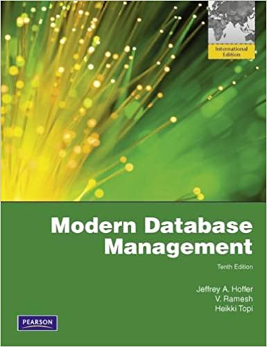 Test bank for modern database management 10th edition by hoffer.
