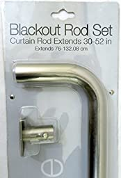 Metro Loft Lifestyle Blackout Silver Rod Set Extends from 30\