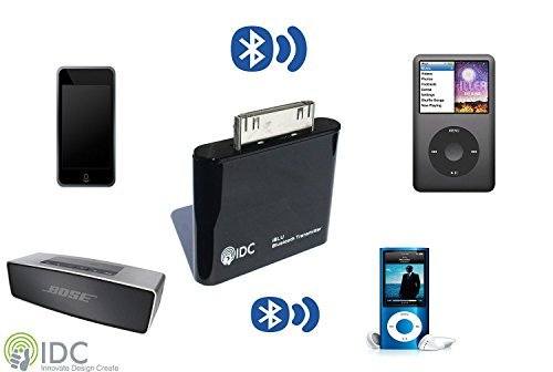 Ipod Nano Mini Portable Speakers - IDC Bluetooth iPod Transmitter. Turn your iPod Bluetooth. Stream Music Wirelessly to your Speaker/earphones. Compatible with iPod Classic, iPod Nano, iPod Touch, Ipod Shuffle, Ipod Mini, Ipod Video.