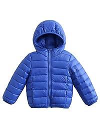 JiAmy Kids Puffer Down Jackets Winter Hooded Coats Lightweight Outerwear 1-6 Years