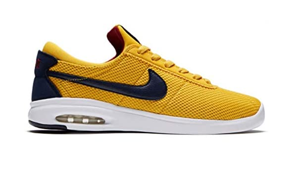 new concept e9f0f c79b9 Amazon.com   NIKE SB AIR Max Bruin VPR TXT Mens Skateboarding-Shoes AA4257-700 14  - Yellow Ochre Obsidian-RED Crush-White   Skateboarding
