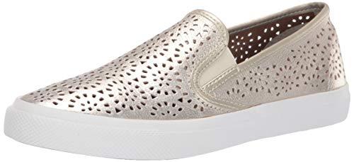 Sperry Women's Seaside Perf Emboss Sneaker, Platinum, 6 M US