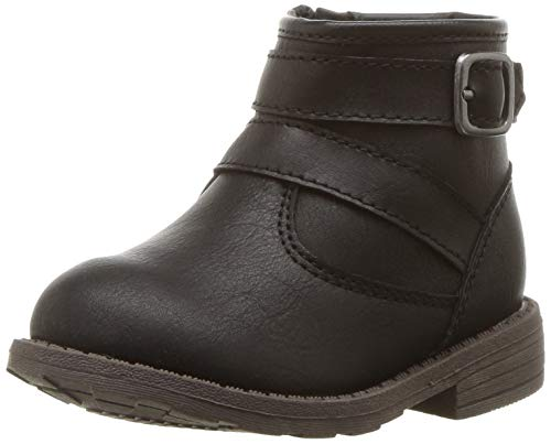 carter's Girls' Cindia Ankle Boot, Black, 10 M US Toddler
