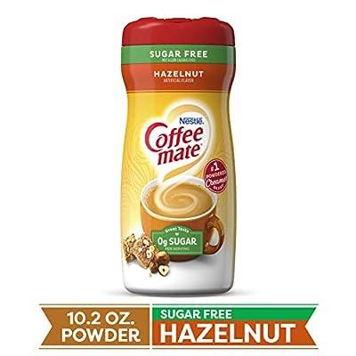 COFFEE MATE Sugar Free Hazelnut Powder Coffee Creamer 10.2 Oz. Canister | Non-dairy, Lactose Free, Gluten Free Creamer