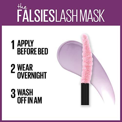 Maybelline The Falsies Lash Mask Overnight Eyelash Conditioner with Shea Butter and Argan Oil, Supple Lashes, Soft Eyelashes, Pro-Kera Complex, Falsies Lash Mask, 0.33 Fl Oz